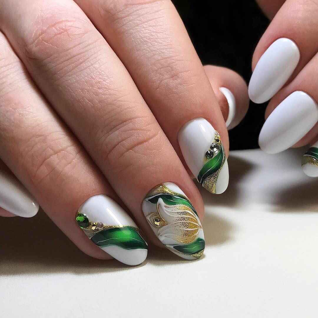 Тюльпаны на ногтях фото_1
