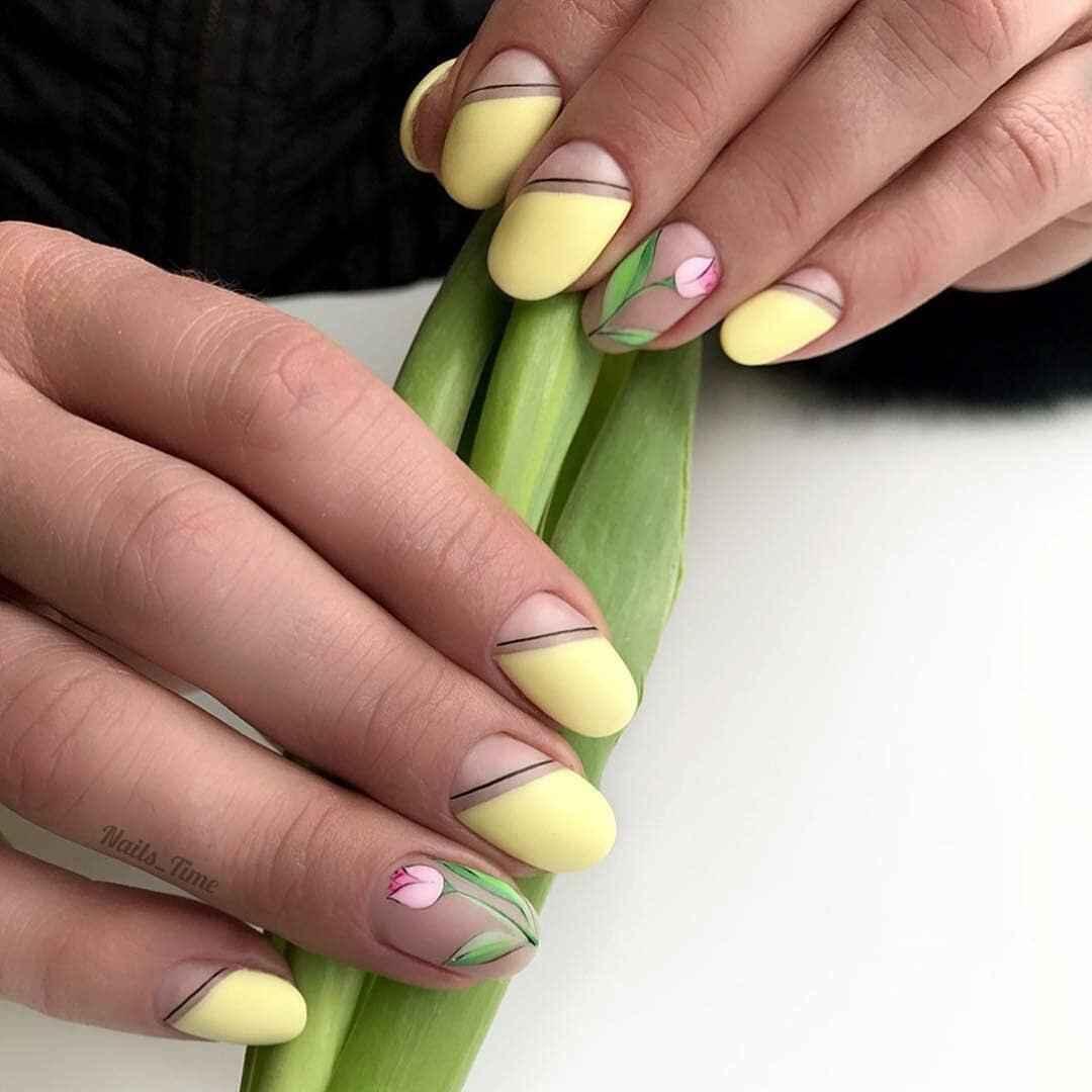 Тюльпаны на ногтях фото_3