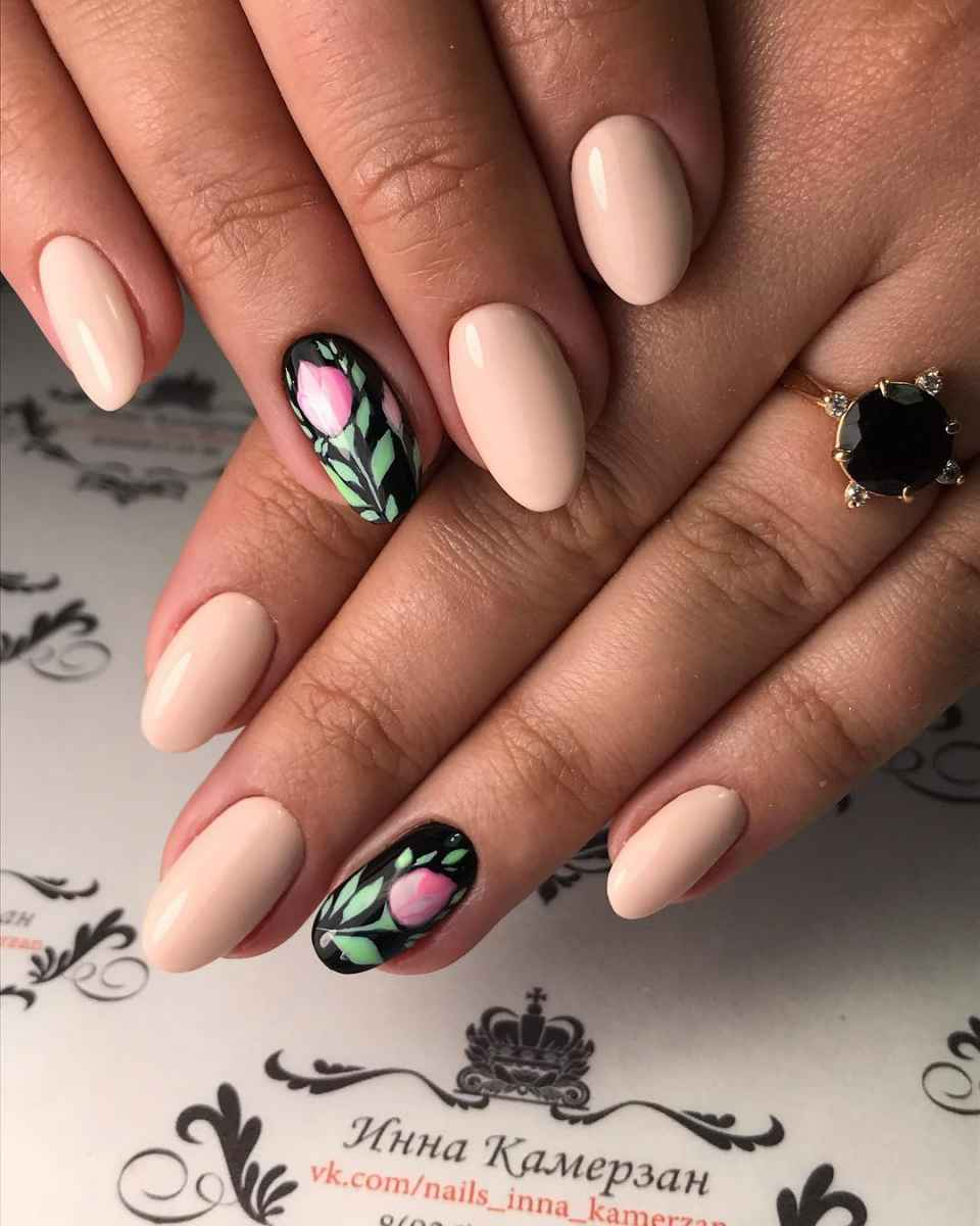 Тюльпаны на ногтях фото_4