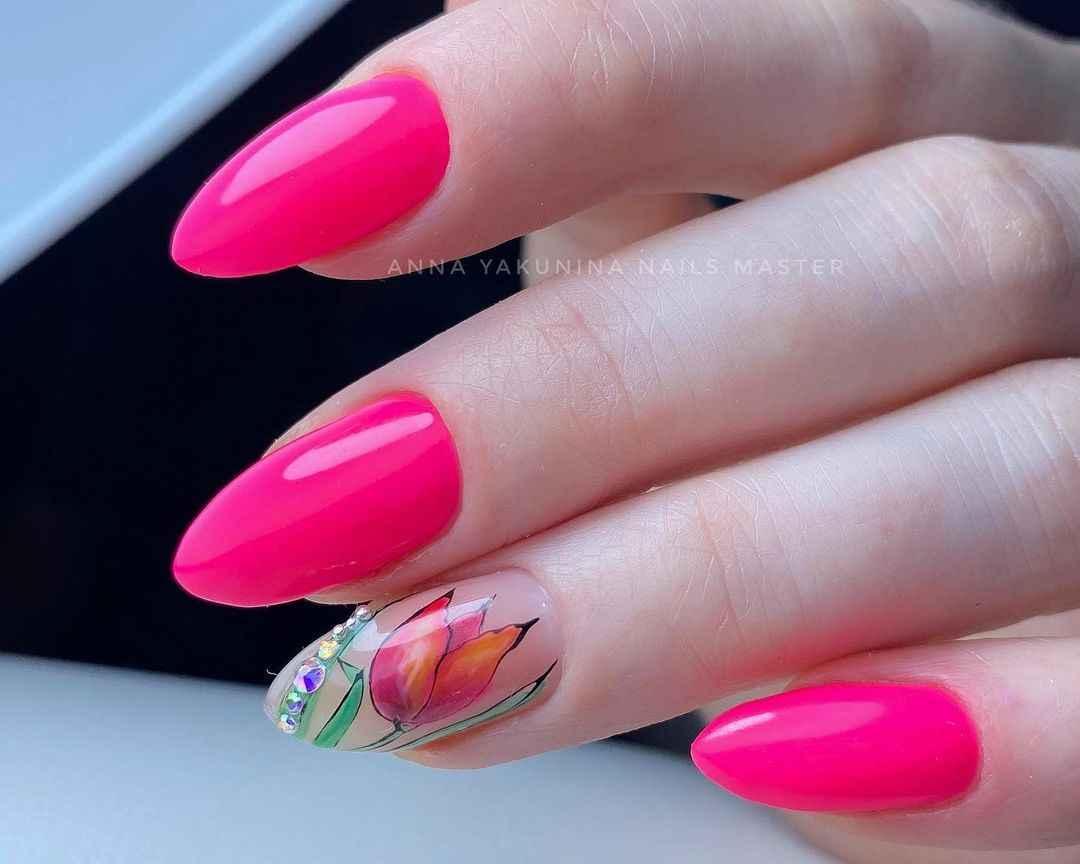 Тюльпаны на ногтях фото_19