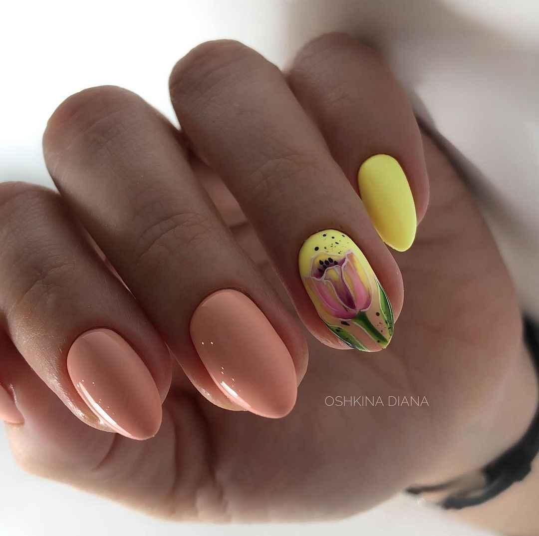 Тюльпаны на ногтях фото_18