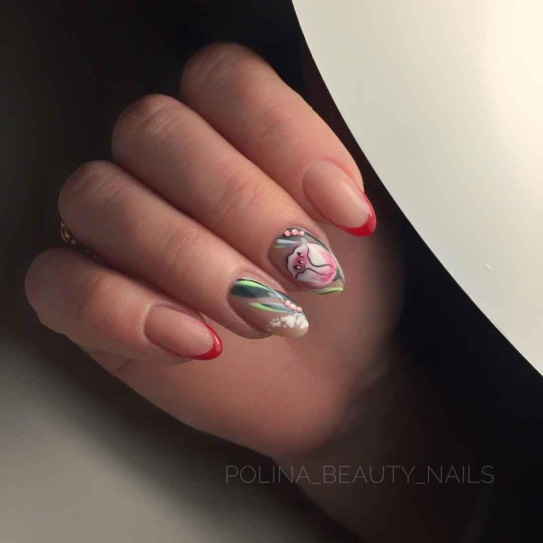 Тюльпаны на ногтях фото_7