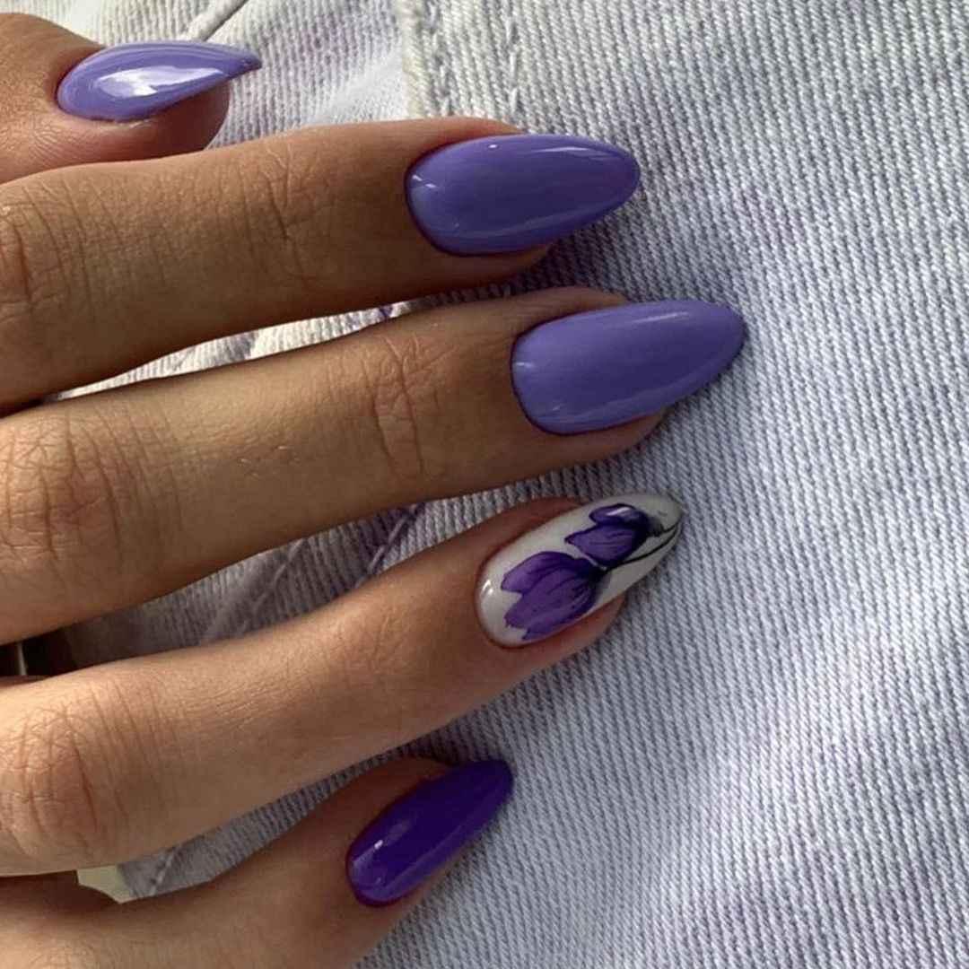 Тюльпаны на ногтях фото_23
