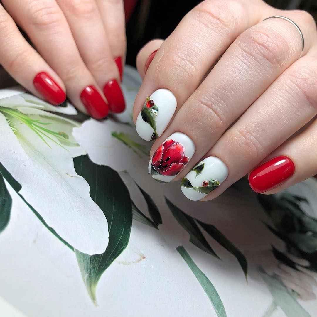 Тюльпаны на ногтях фото_6
