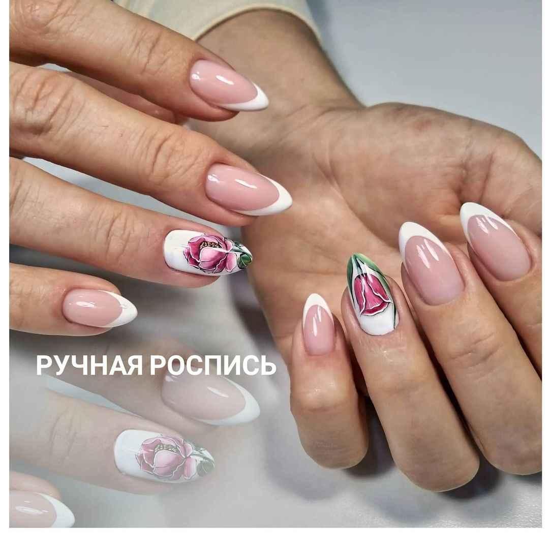 Тюльпаны на ногтях фото_22