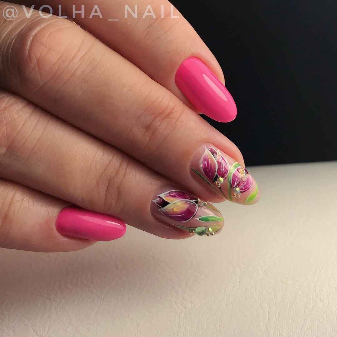 Тюльпаны на ногтях фото_20