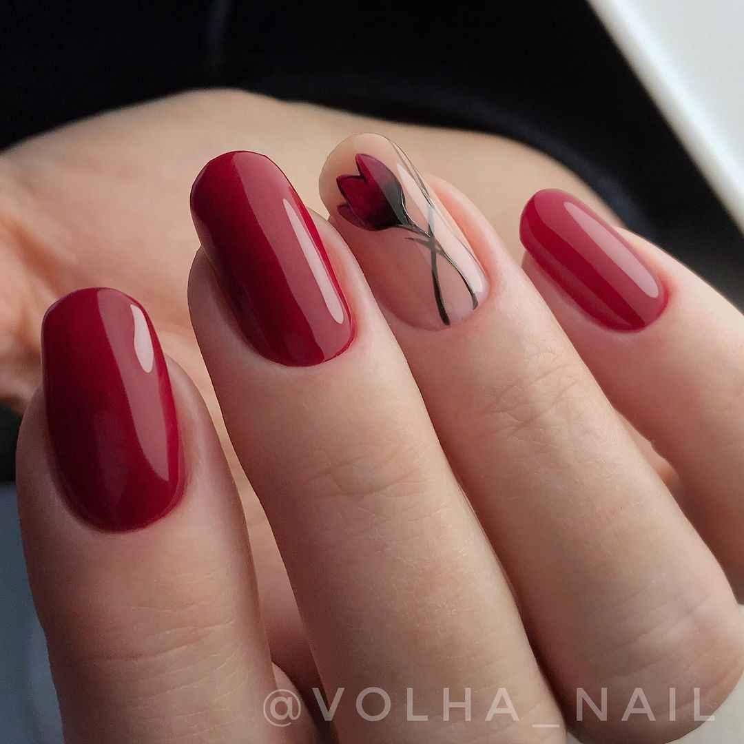 Тюльпаны на ногтях фото_16