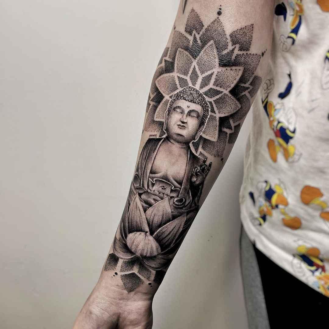 татуировка будда фото_35