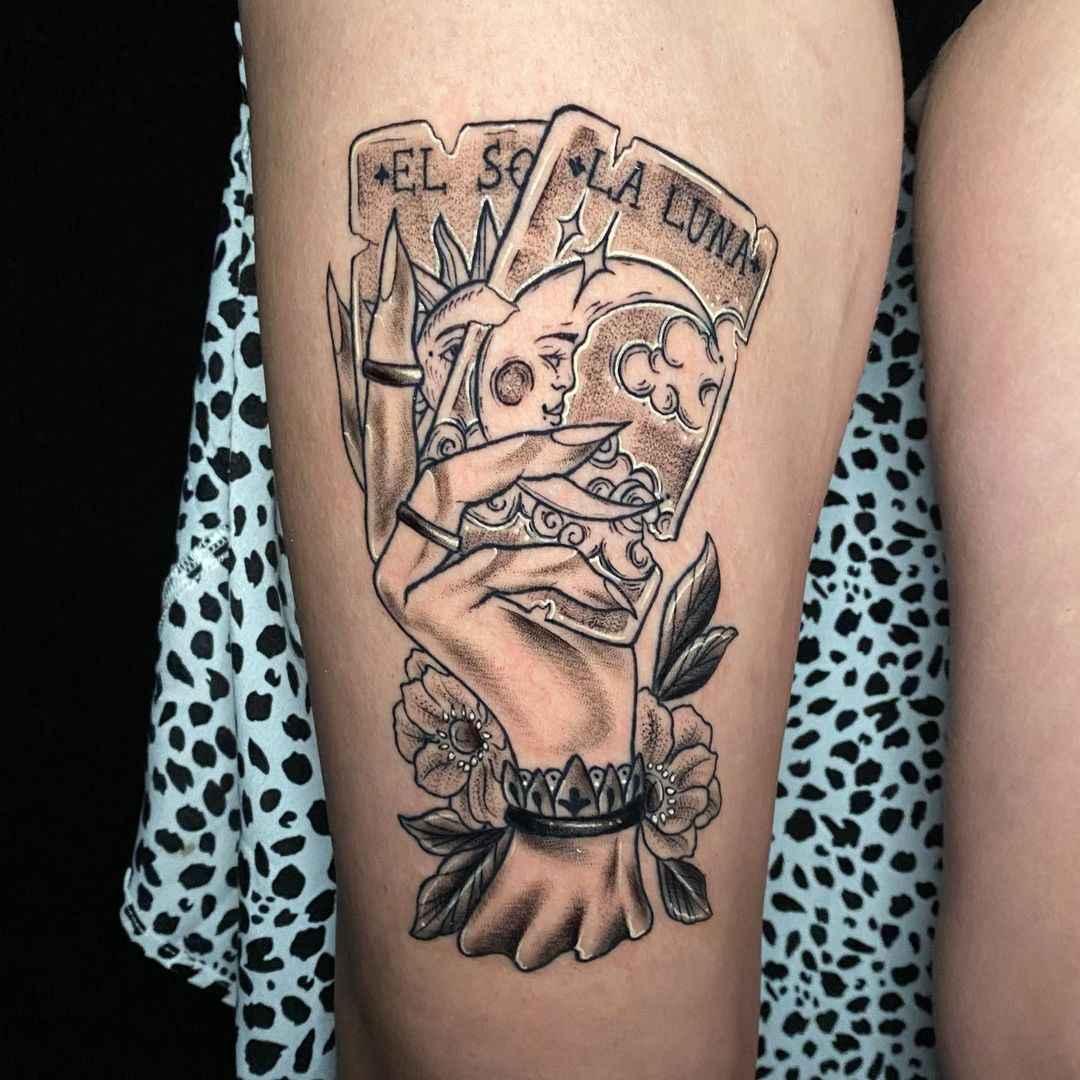 Татуировка карта таро фото_10