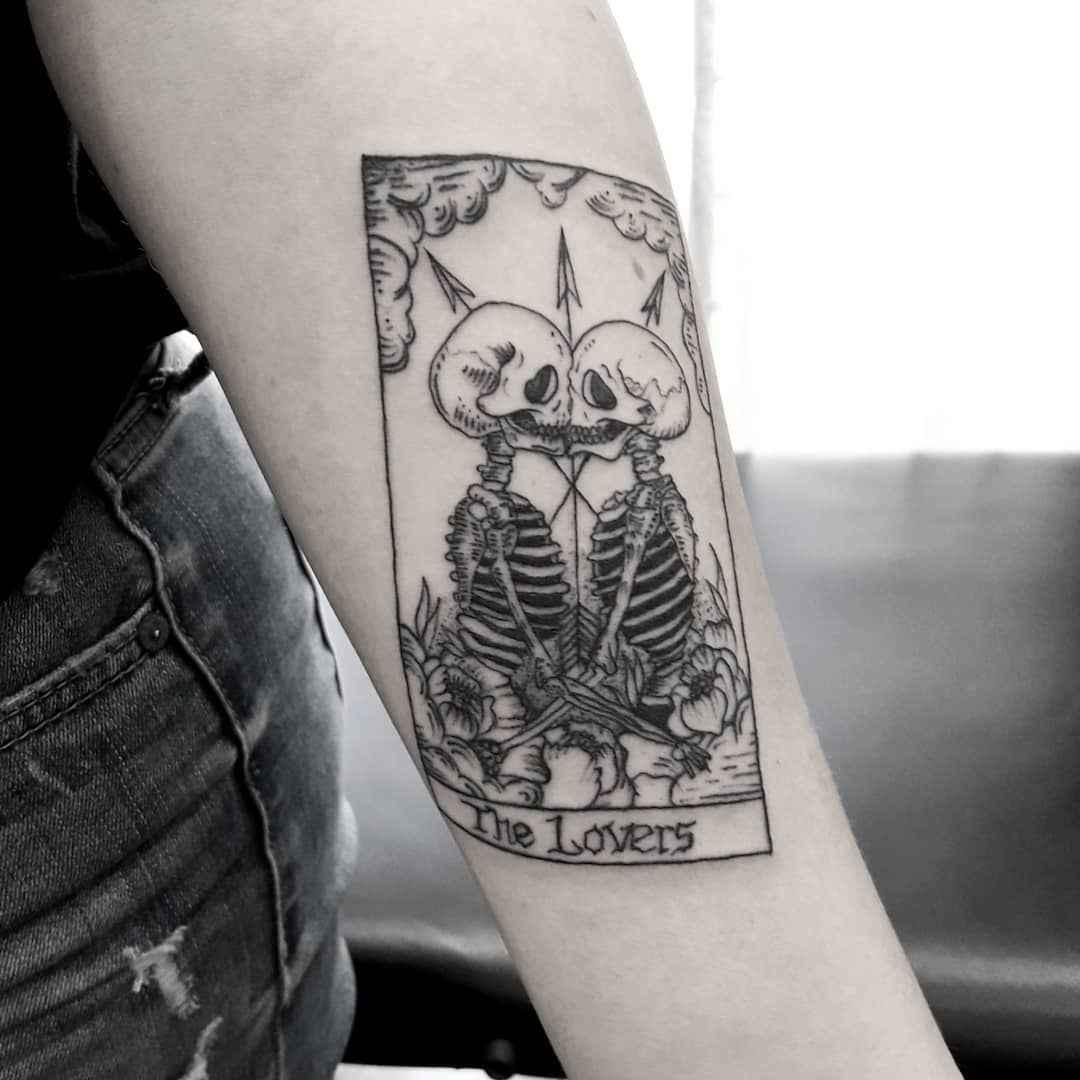 Татуировка карта таро фото_29