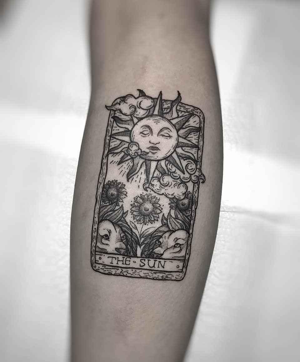 Татуировка карта таро фото_24