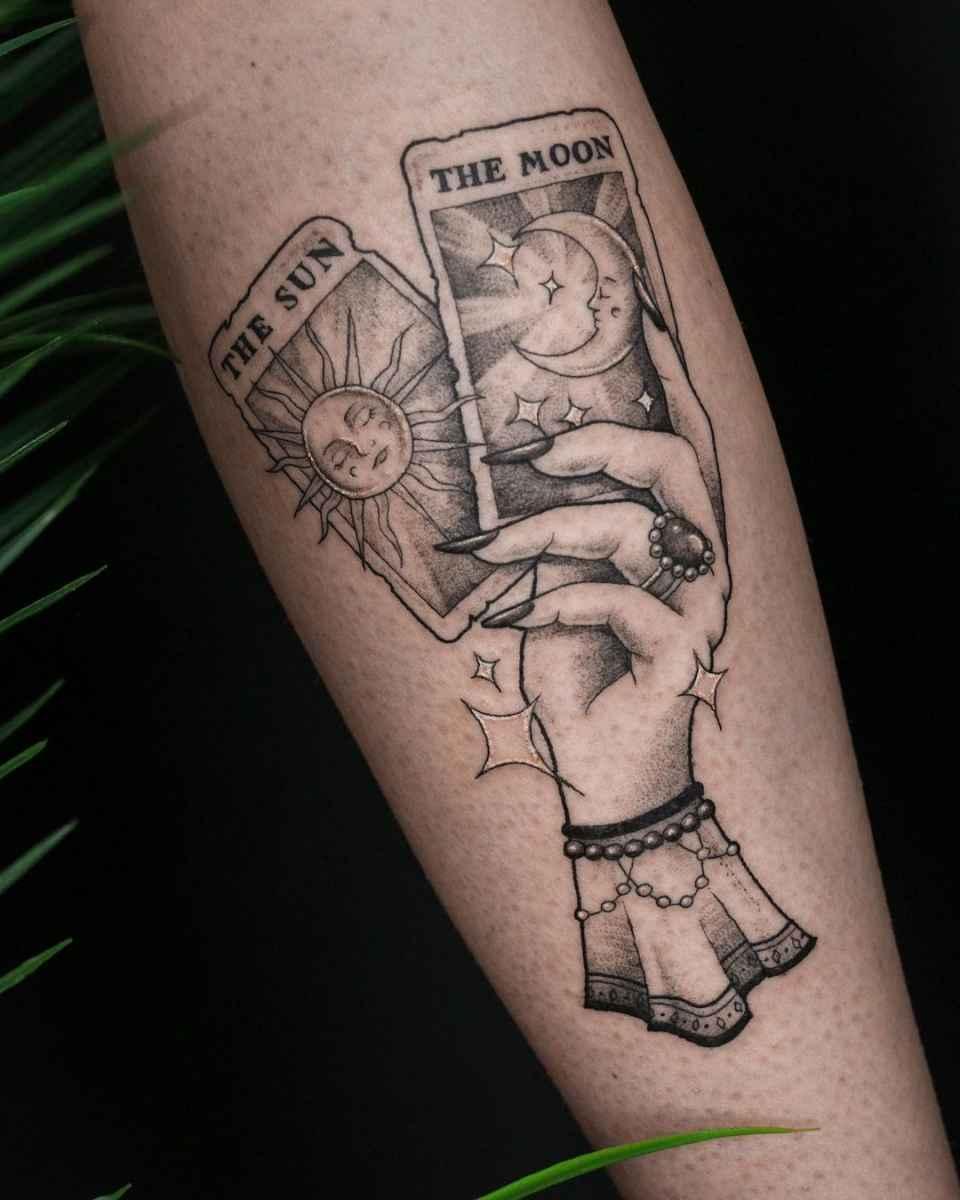 Татуировка карта таро фото_32