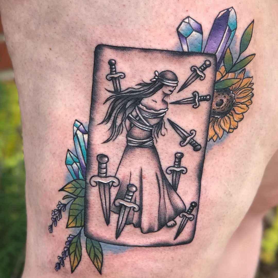 Татуировка карта таро фото_3