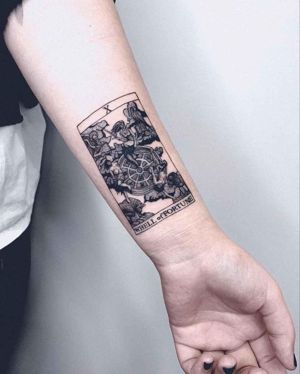 Татуировка карта таро фото_20