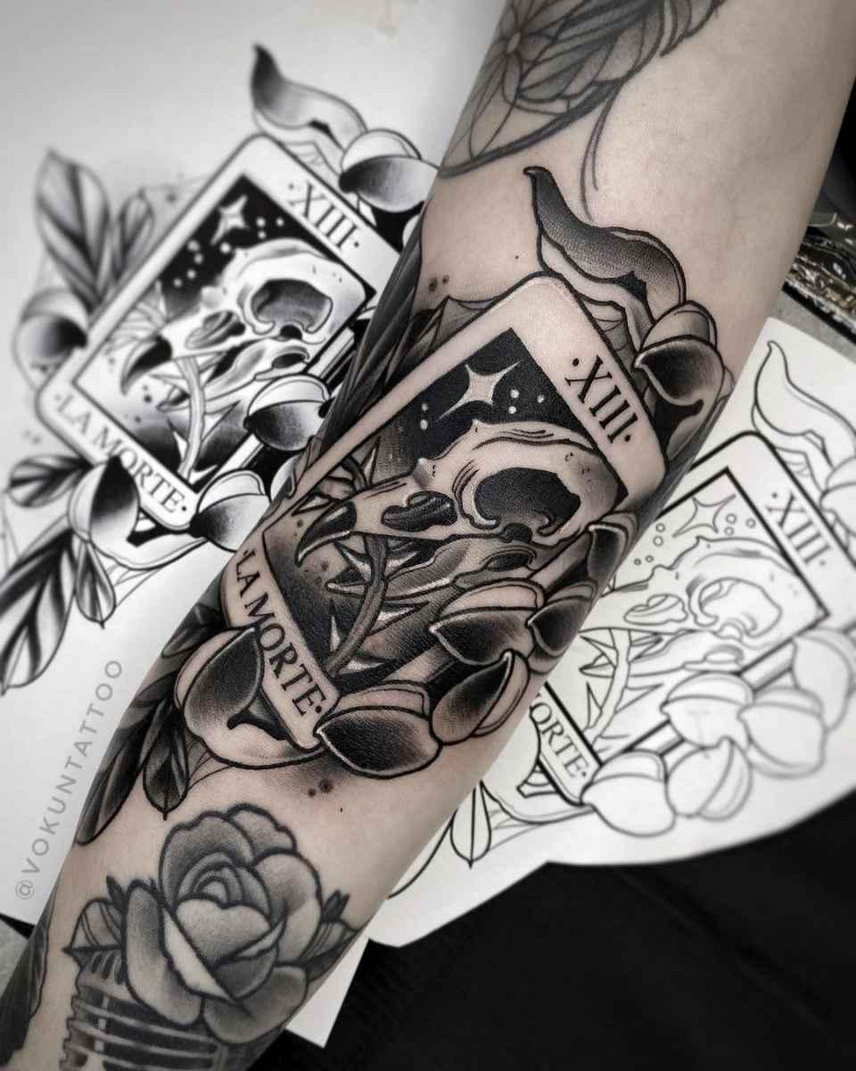 Татуировка карта таро фото_28