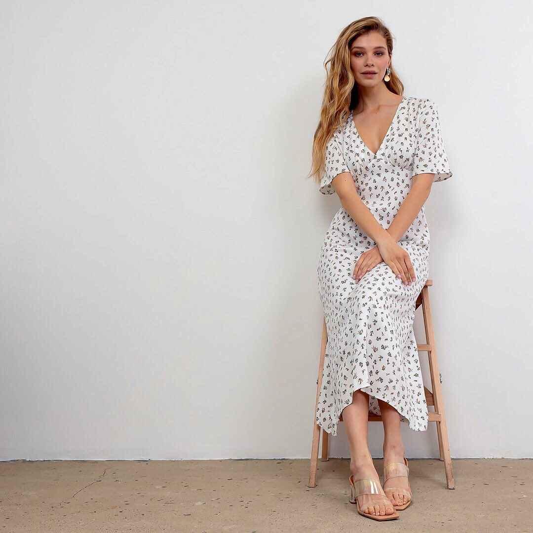 Модные чайные платья лето-осень 2021 фото_1